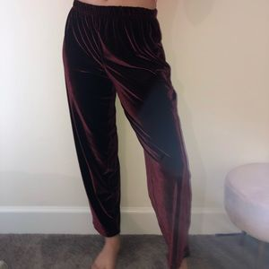 Pants - Purple velvet pants
